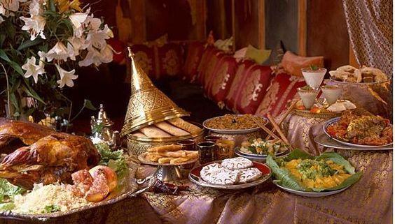 Repas de fete marocain